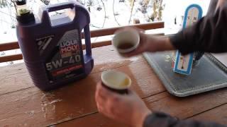 Тест моторного масло в мороз -31°С [ВИДЕО]