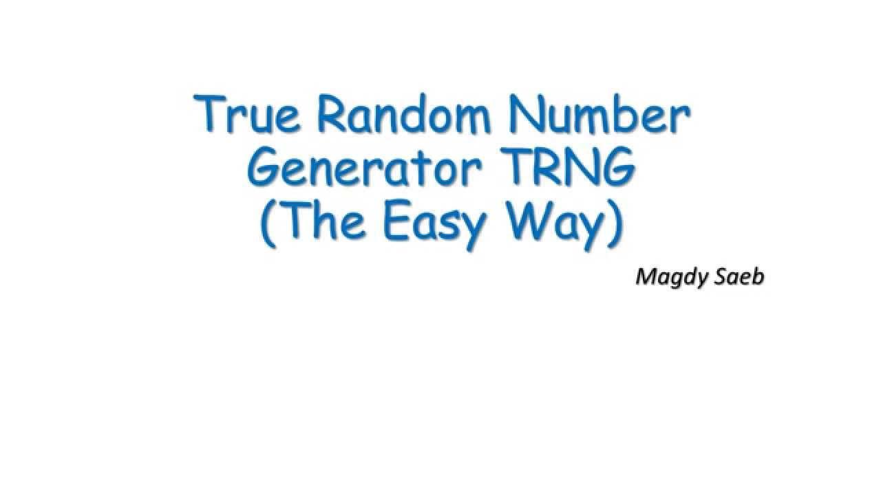 Download True Random Number Generator TRNG