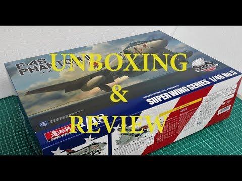 Zoukei-Mura Super Wing Series 1/48 F-4S Phantom II - Unboxing & Review