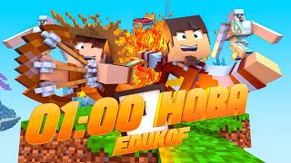 Minecraft: MAIS 1 HORA DE BED WARS  ‹ EduKof ›