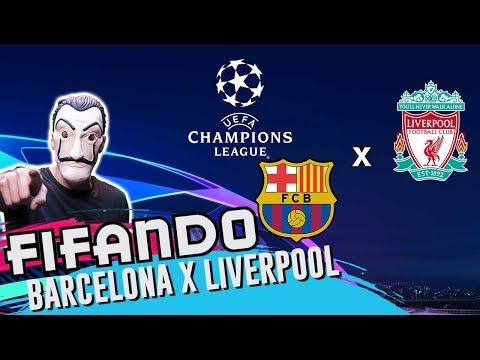 LIVERPOOL X BARCELONA - DESAFIO PRÉ-CHAMPIONS ÀS CEGAS - FIFA 19