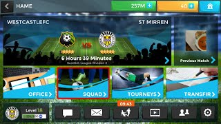 A day in the life of me playing the football management ultra app screenshot 1