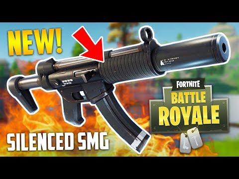 NEW SILENCED SMG!! (Fortnite Battle Royale)