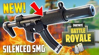 NEW SILENCED SMG!! (Fortnite Battle Royale)