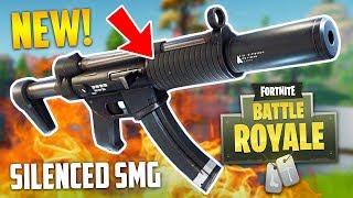 NEW SILENCED SMG!! (Fortnite Battle Royale) thumbnail