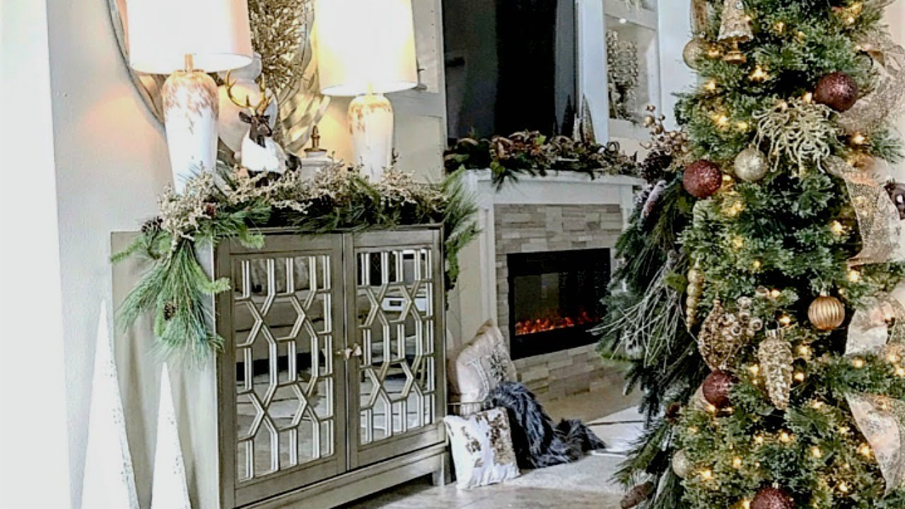 christmas entryway tour decor ideas