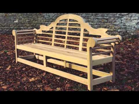 The handcrafted Lutyens wooden bench by Woodcraft UK