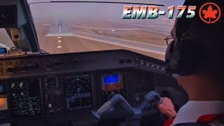 Piloting the AIR CANADA Embraer into Toronto