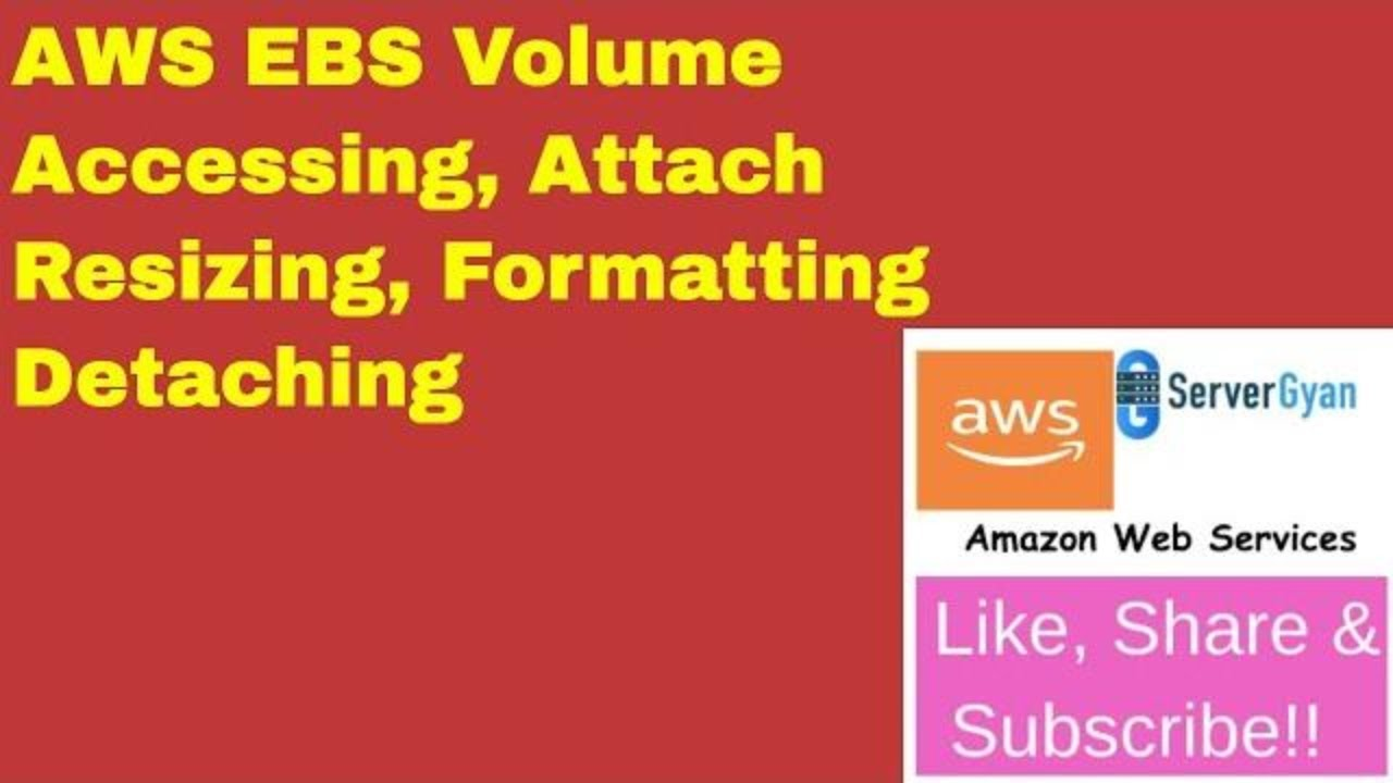 AWS EC2 mount, access and resize volume (EBS) on EC2 From ServerGyan