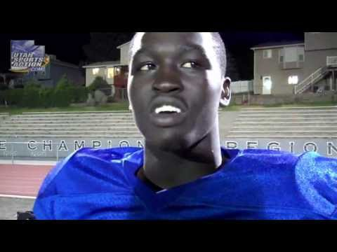 Prep all-star football: Jeremiah Omar's (West Jordan Jaguars) post game interview