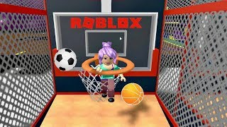 Playing Sports Land in Roblox with Lots of Basketballs and Funny Game Glitch