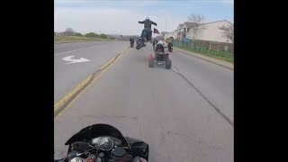 Extremely Close Calls, Road Rage, Crashes, Angry People & Scary Motorcycle Accidents  EP #86]