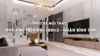 Thiết kế nội thất NHÀ PHỐ HIỆN ĐẠI 380m2 - Quận Bình Tân | VUÔNG TRÒN DECOR | capture youtube