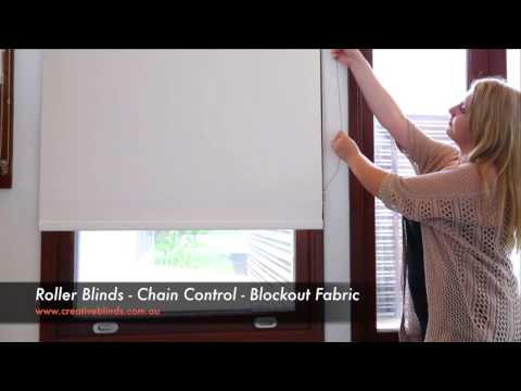 Creative Blinds & Awnings Roller Blinds Chain Control Blockout Fabric Byron Bay