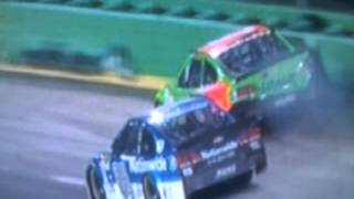 Danica Patrick ANGRY with Dale Jr. after contact| 2015 NASCAR SPRINT Kentucky 400