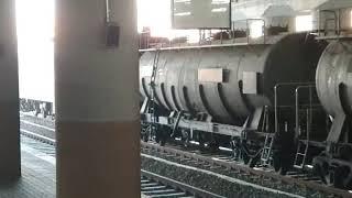 코레일 8511호 시멘트 화물열차 청량리역 발차