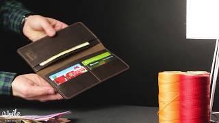 Мужское кожаное портмоне ручной работы VOILE lw1-brn. Купить в Украине - видео обзор