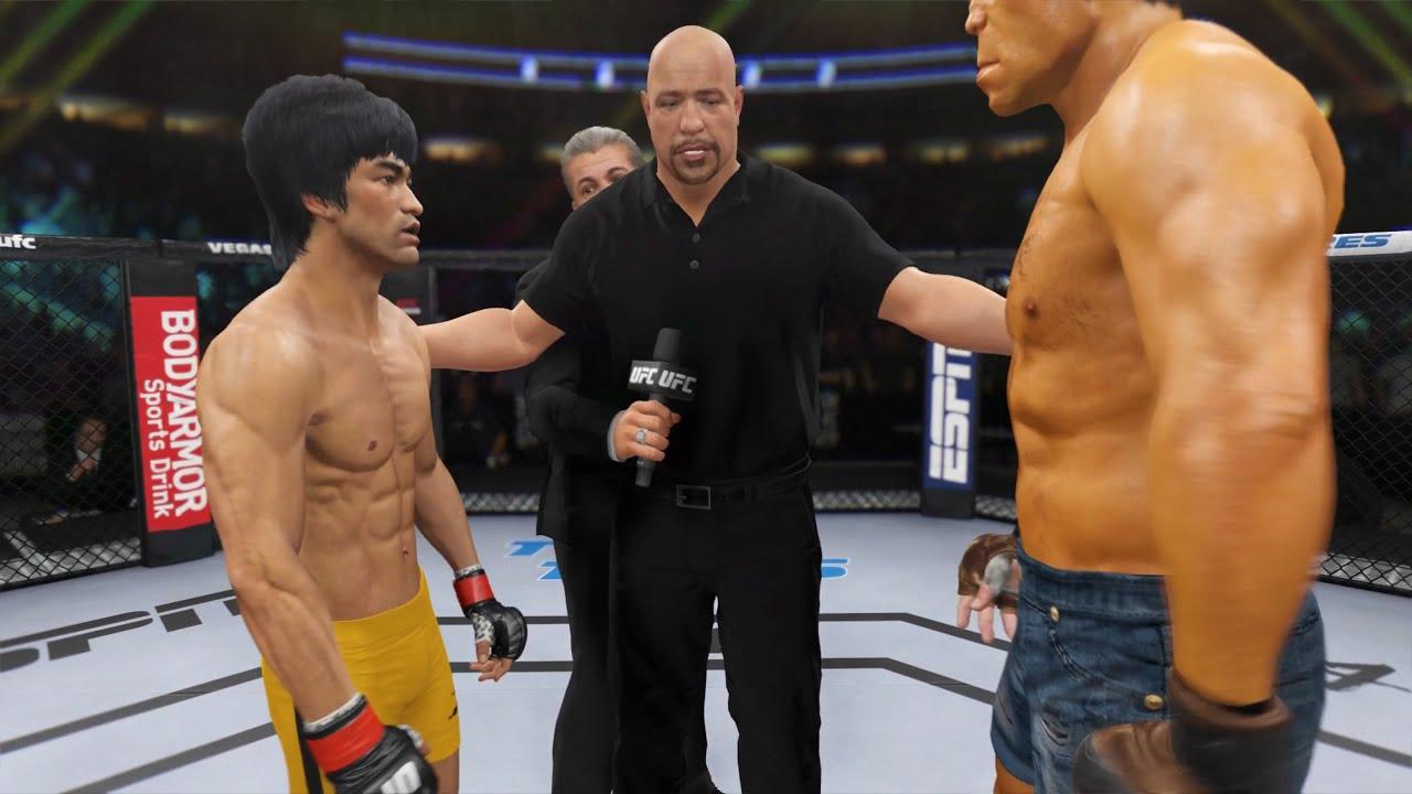 Bruce Lee vs. Desert Hulk - EA Sports UFC 4 - Epic Fight 🔥🐲