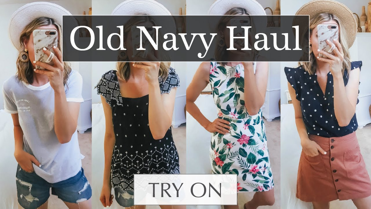 d0a347f888c3 Massive Old Navy Spring & Summer Try On Haul | Life By Lee