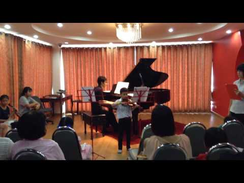 My student first public recital