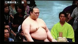 H30大相撲9月場所初日 稀勢の里VS勢