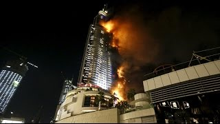 Dubai Downtown on Fire [The Address Hotel]