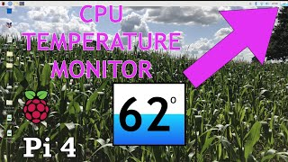 Live Temperature monitor Raspberry Pi 4 Raspbian Overclocked 2.0Ghz