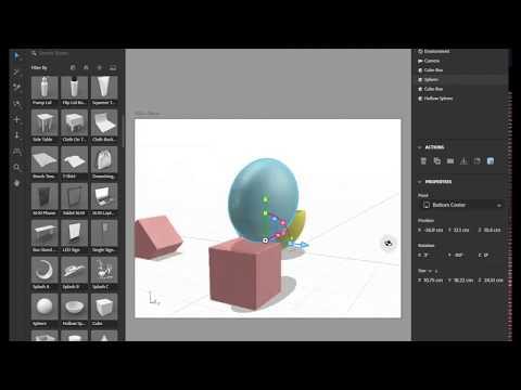 Adobe Dimension 2020 - Նոր Ընտման Գործիքի Վիդջետ (New Select Tool Widget) in Armenian