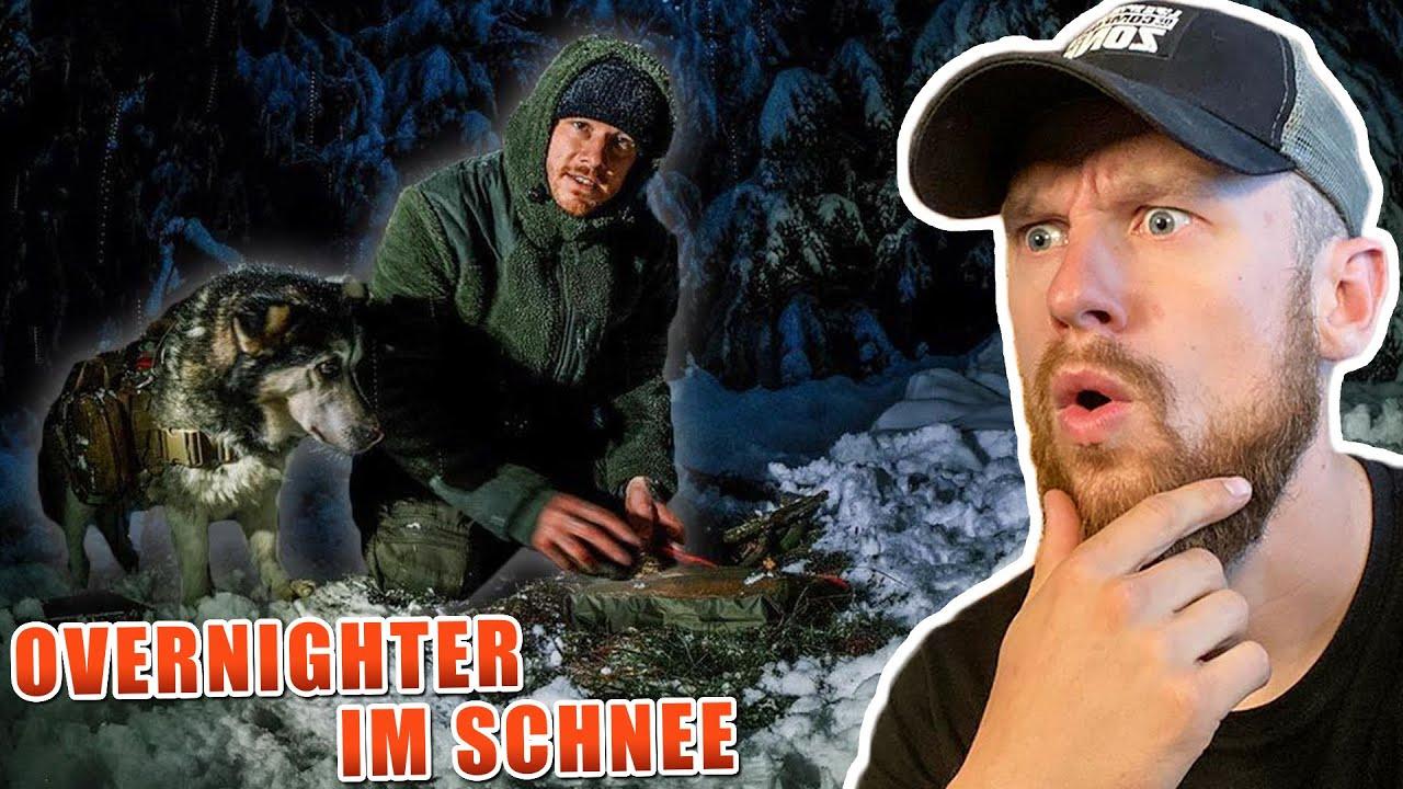 Fritz Meinecke reagiert auf Übernachtung bei -3 Grad im Schnee mit HUND