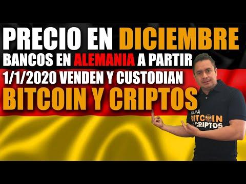 Precio BITCOIN DICIEMBRE 2019 / Bancos En ALEMANIA Venden CRIPTOMONEDAS