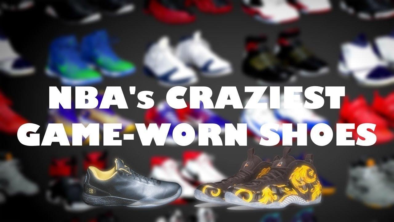 30cdde8bfbc1 NBA s Craziest Game-Worn Sneakers - YouTube