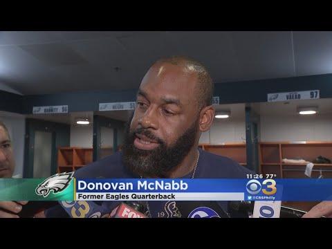 Donovan McNabb Stops By Eagles