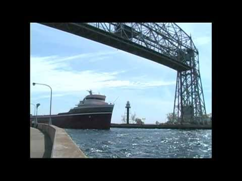 Vintage Lake Freighters - Duluth Harbor