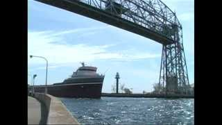 Vintage Lake Freighters - Duluth Harbor