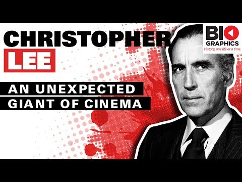 Christopher Lee: An Unexpected Giant of Cinema Christopher Lee Biography