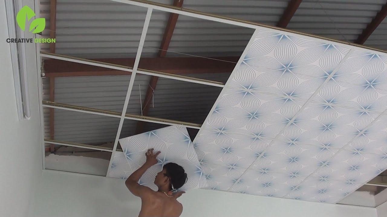 How to Install Suspended Ceiling – Thi công trần thả thạch cao nhà cấp 4 giá tốt bền đẹp