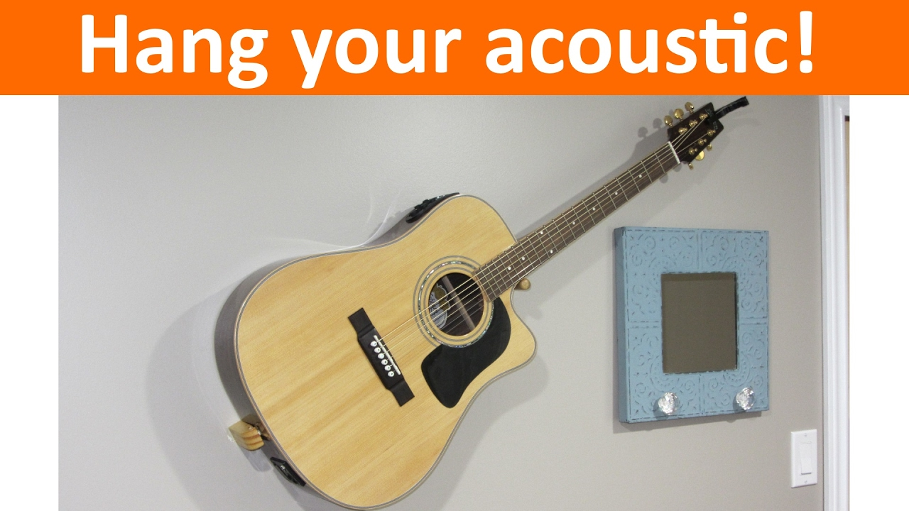 Floating Acoustic Guitar Mount Diy Youtube