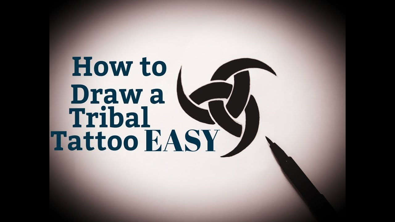 How To Draw A Tribal Tattoo Easy Design Step By Step Drawing