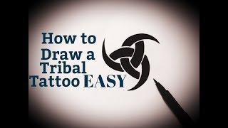 How to draw a tribal tattoo easy design step by step drawing tribal tattoos (designs)on paper simple