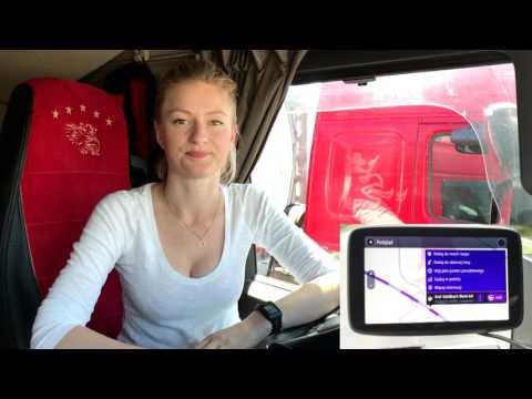 TomTom Go Professional test - Iwona Blecharczyk Trucking Girl