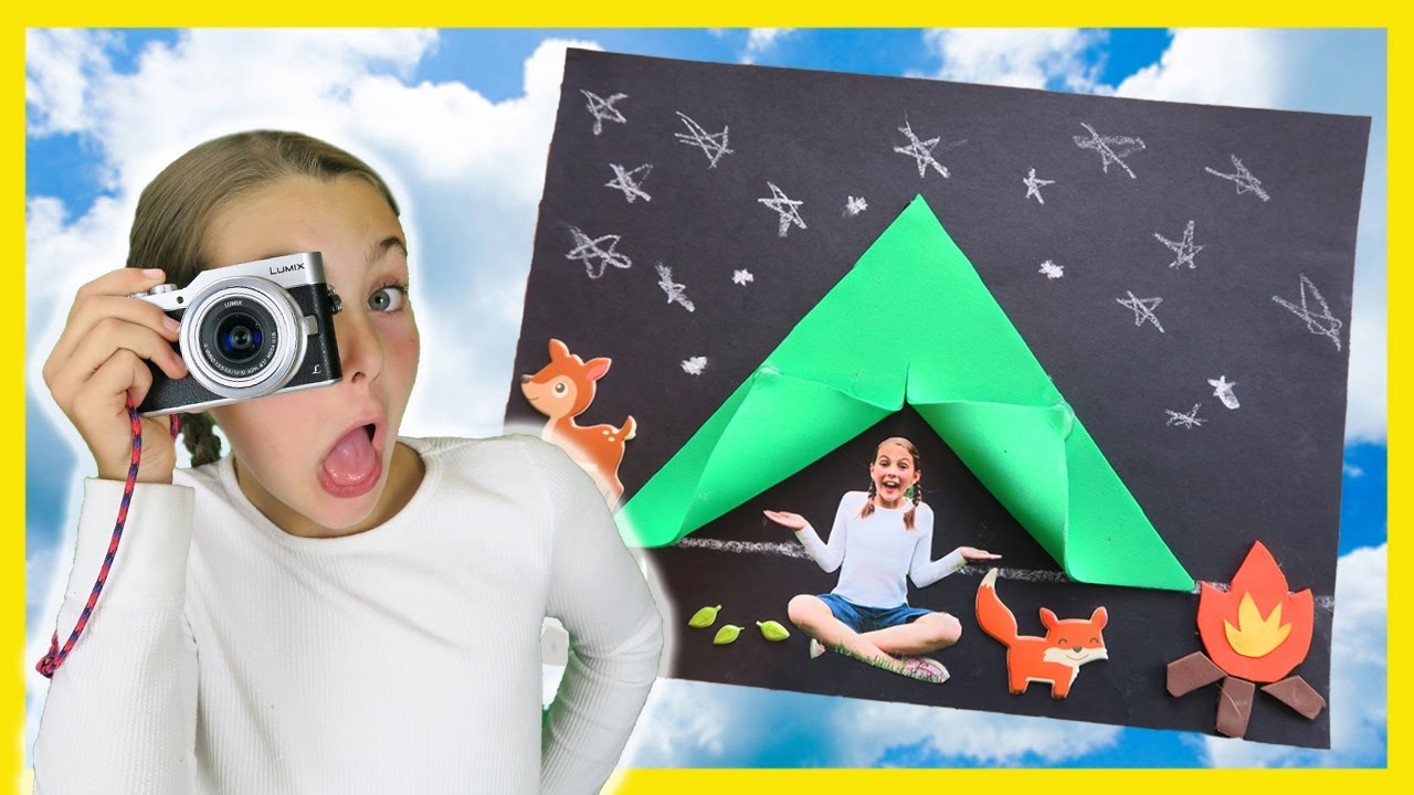 How To Make DIY C&ing Tent Craft Photography For Kids C&fire Foam Paper Crafts w/ Ava  sc 1 st  YouTube & How To Make DIY Camping Tent Craft Photography For Kids Campfire ...