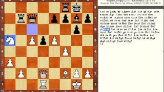 Chess Game: Sergey Karjakin (RUS) vs  Farrukh Amonatov (TJK)