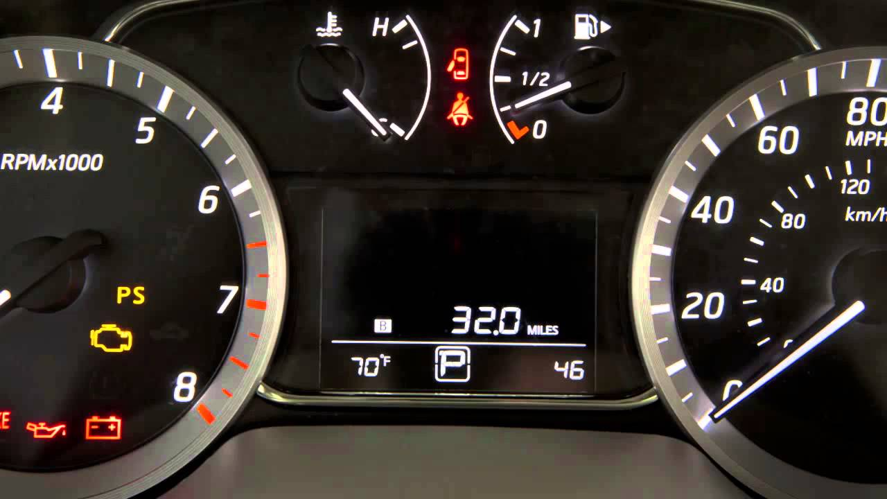 2013 NISSAN Sentra - Warning and Indicator Lights - YouTube