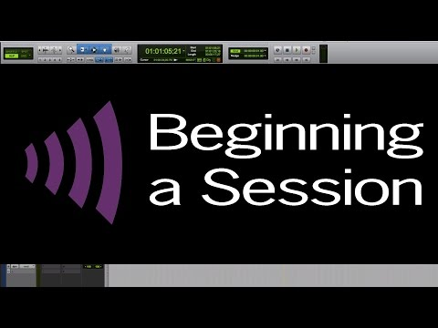 Tutorial 1: Beginning a Session - Post-Production Audio Workflow Series