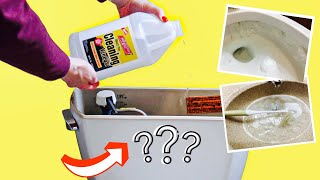 Put VINEGAR into your TOILET and WATCH What Happens!! (Bathroom Cleaning Hacks)