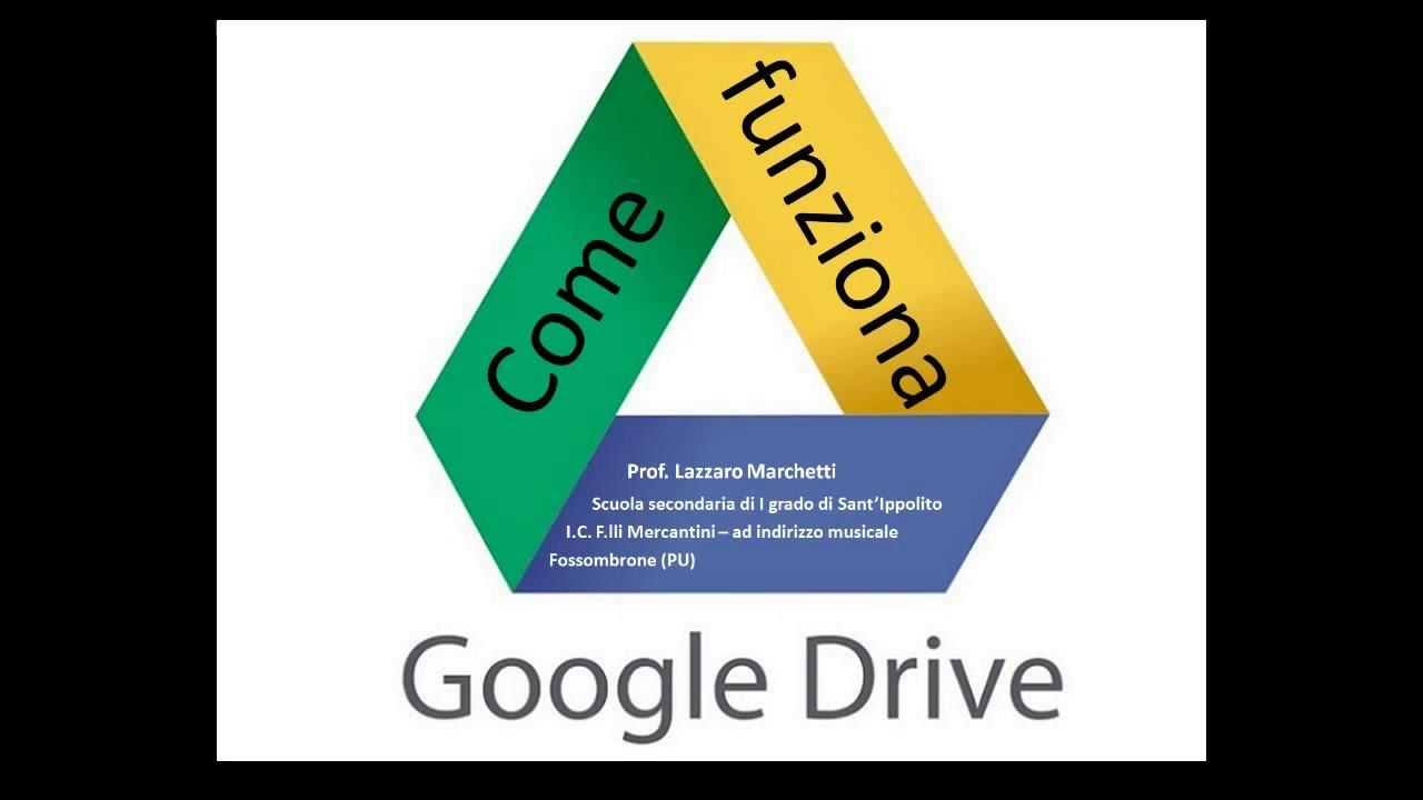 come funziona google drive - youtube