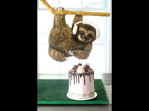 Airbrushing the Sloth Cake and Making Headphones