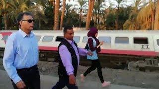 وزير النقل يتفقد موقع حادث