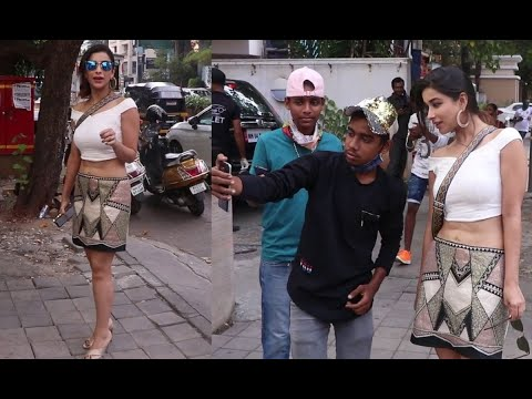 Excuse Me Madam actress Nyra Banerjee spotted; clicks selfies with fans   Shudh Manoranjan