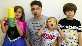 تحدي الرمي مع أطفالي   👨👧👦